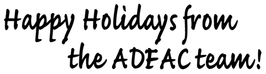 Happy Holidays from the ADFAC team!
